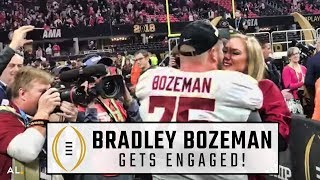 Bradley Bozeman proposes to girlfriend after national championship