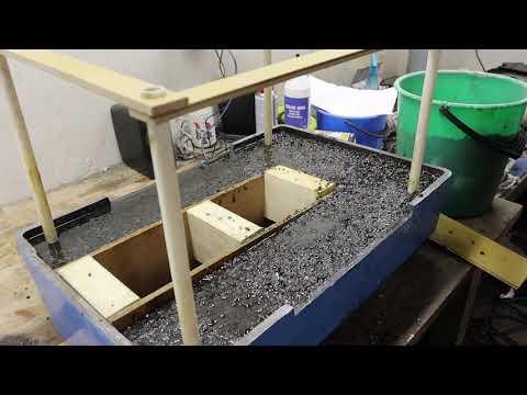 Linear encoders on stepper motor CNC milling machine. Part 11 Epoxy granite