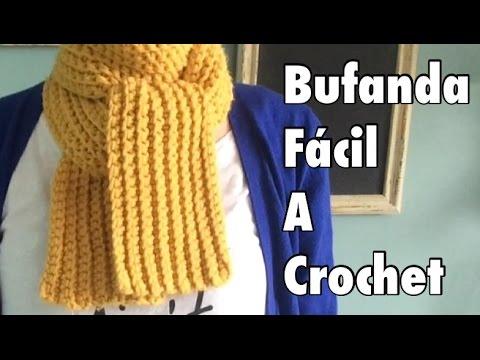 Tutorial #1: Bufanda Fácil a Crochet - Easy Crochet Scarf (English ...