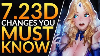 What You MUST KNOW in Patch 7.23D - HUGE CHANGES, BUFFS and NERFS - Dota 2 Meta Guide