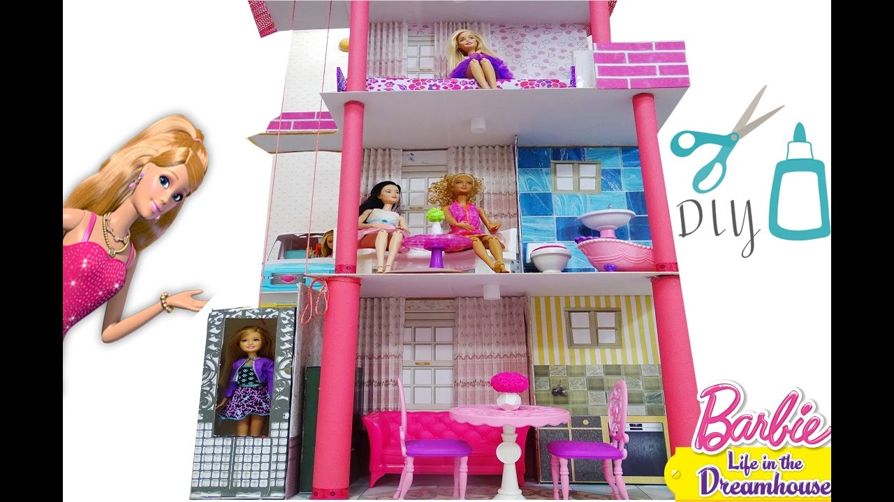 Barbie doll house diy how to make a barbie malibu dream How to make your dream house