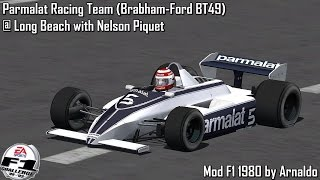 [F1C] Parmalat Racing Team (Brabham-Ford BT49) @ Long Beach with Nelson Piquet [HD]