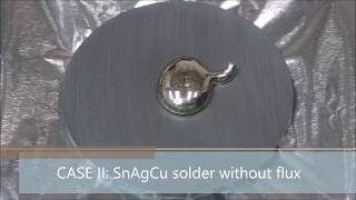 Cametics video blog No 6 - Wettability of various solders on surface of graphite