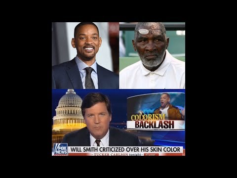 "Tucker Carlson on Colorism - Will Smith ""Too Light"" To Portray Serena Williams Father"