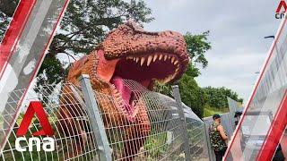 Walk with dinosaurs at Changi Jurassic Mile