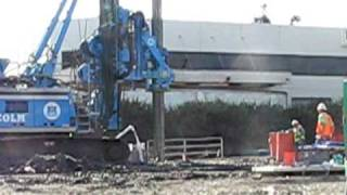 Metro Expo Line drilling of large hole for foundation -- Part 3