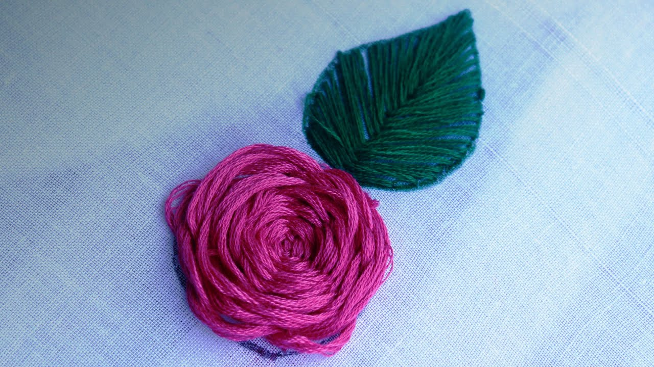 Hand Embroidery - Rose Flower Stitching by SrujanaTV - YouTube