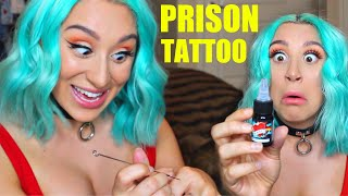 PRISON TATTOOing MYSELF *at home*