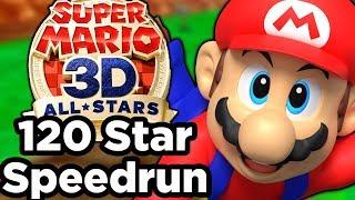 Super Mario 3D All Stars: Mario 64 120 Star Speedrun (WITH FLIPPED CAMERA CONTROLS 🙃)