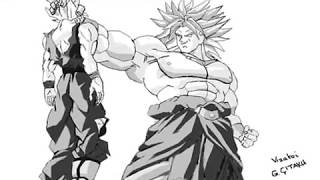 Broly vs Goku drawing ms Paint [shqip]
