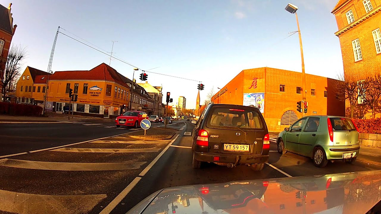Odense Denmark downtown on GoProHeroHD2 - YouTube