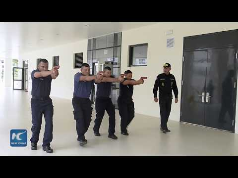 New Costa Rican police officers attend academy donated by China