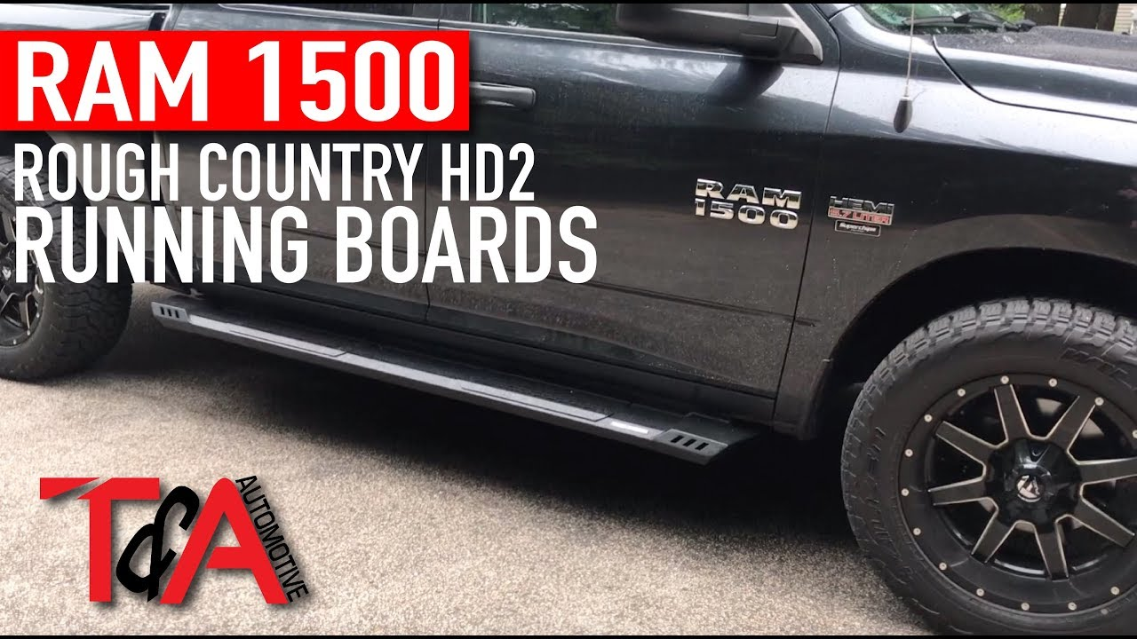 Rough Country Hd2 Running Boards On A 2014 Ram 1500