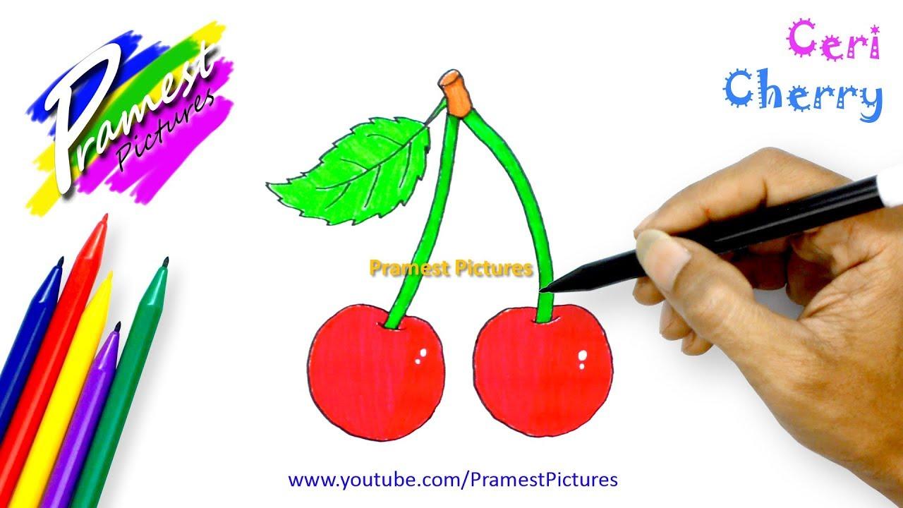 Ceri Cara Menggambar Dan Mewarnai Gambar Buah Buahan Untuk Anak Youtube