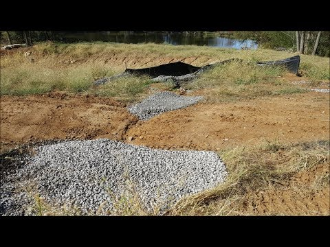 Gravel Ditch Checks-Will they slow down water erosion??