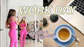 REAL WORK DAY IN MY LIFE: what I do working from home