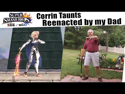 Super Smash Bros Wii U: Corrin Taunts reenacted by my Dad