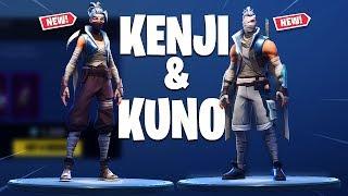 Fortnite KUNO et KENJI Ninja SKINS ! 'NOUVEAU' DUAL KAMA Backbling!