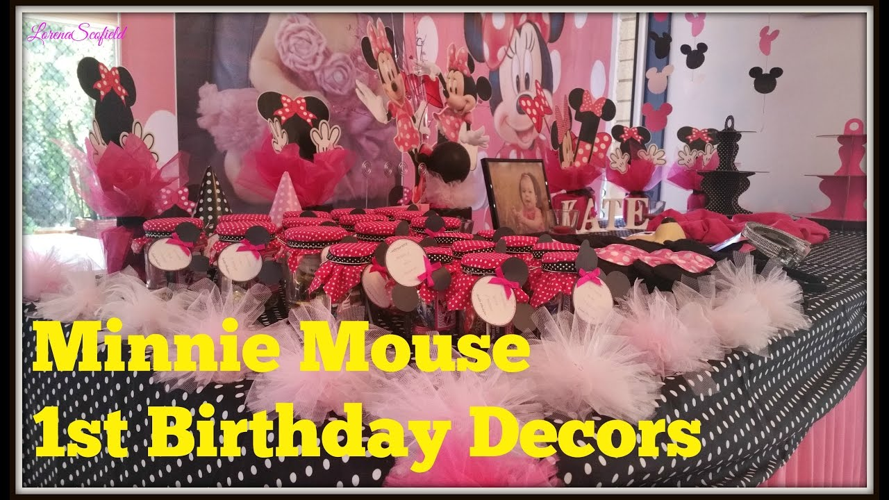 Diy Minnie Mouse 1st Birthday Set Up Youtube