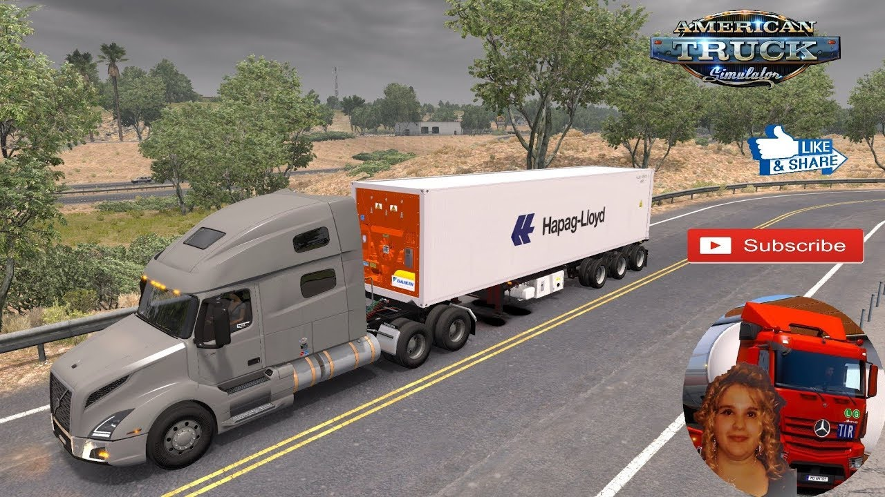 American Truck Simulator (1 34) Daikin Reefer Container Ownable Trailer  [1 34 x] + DLC's & Mods