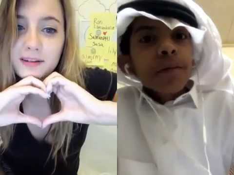 Christina and Abousin-arab funny Video chat