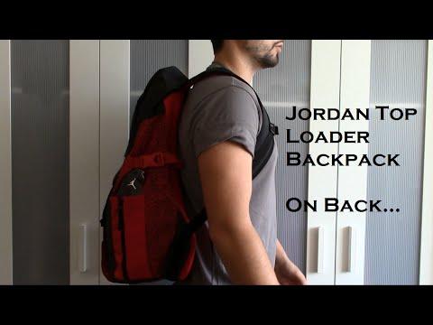 3a4f6dd20a0 Jordan Top Loader Backpack on back review - YouTube