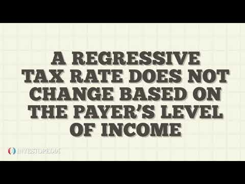 Regressive tax meaning