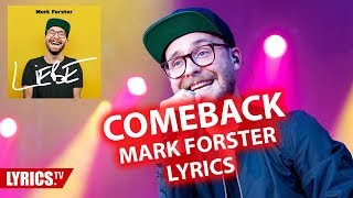 Comeback LYRICS | Mark Forster | Lyric & Songtext | aus dem Album LIEBE