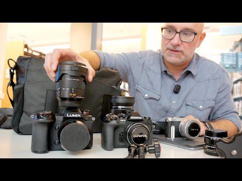 Panasonic G9 vs Olympus EM1 mk II vs GM1 | What's in the camera bag? ft. Giulio Sciorio