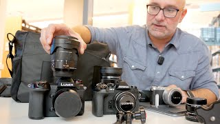 Panasonic G9 vs Olympus EM1 mk II vs GM1 | What's in the camera bag? ft. Giulio Sciorio