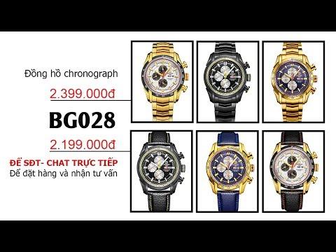 [BAZA.VN] Đồng Hồ Chronograph Nam Phối Màu Binger (Mã: BG028)