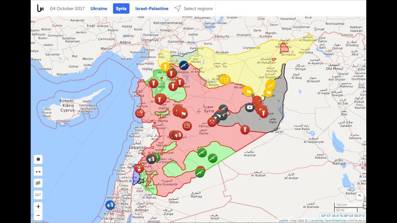 Syrian Civil War - Map Timelapse - YouTube