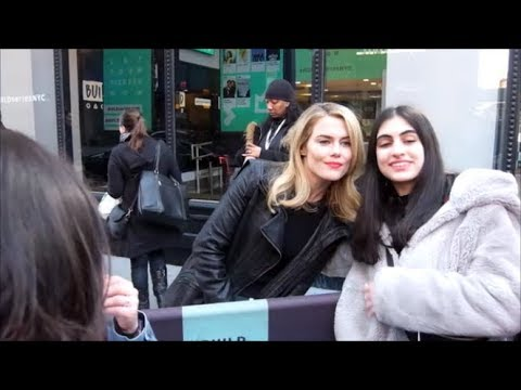 Rachael Taylor greets  in New York City