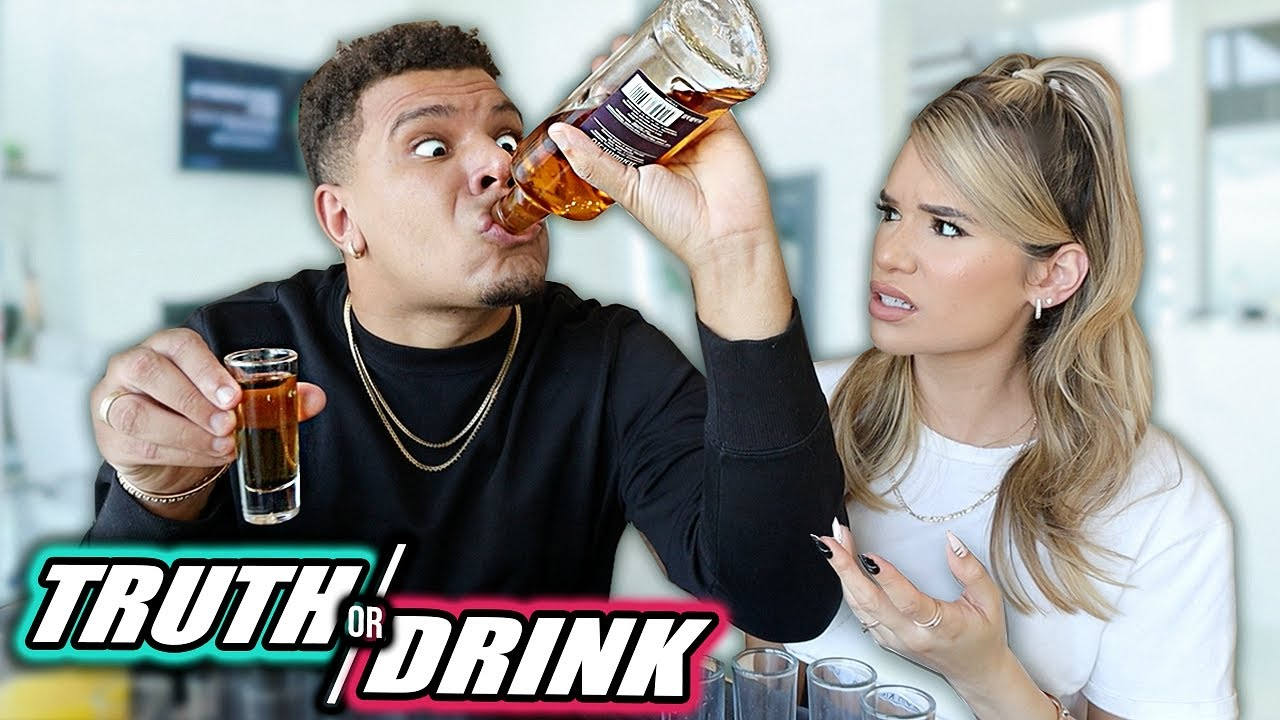 TRUTH OR DRINK w/ Girlfriend *EXPOSING EVERYTHING*