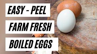Easy-peel hard-boiled farm fręsh eggs