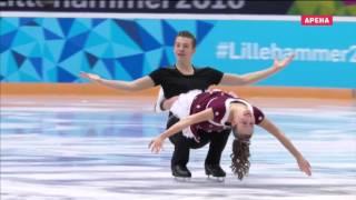 II Зимние юношеские  Олимпийские игры 2016  Фигурное катание  Танцы  Произвольная программа(, 2016-02-26T04:01:57.000Z)