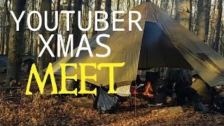 UK Winter woodland wild camping in a Hammock