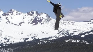 How to do a Tuck Knee Grab with Jared Elston   TransWorld SNOWboarding Grab Directory