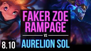 SKT T1 Faker - ZOE vs AURELION SOL (MID) ~ Rampage ~ Korea Challenger ~ Patch 8.10