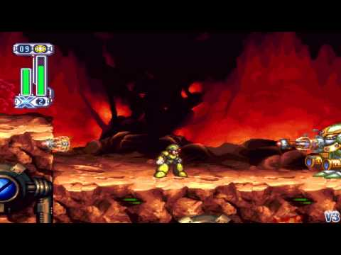 Megaman X4 Stylish Run (X): Magma Dragoon