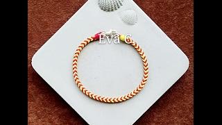 Eva Chiou Jewelry Designs 蠟線教學 20 : 手編 / 方形杉綾結