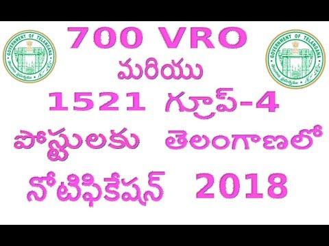 VRO Notification Telangana