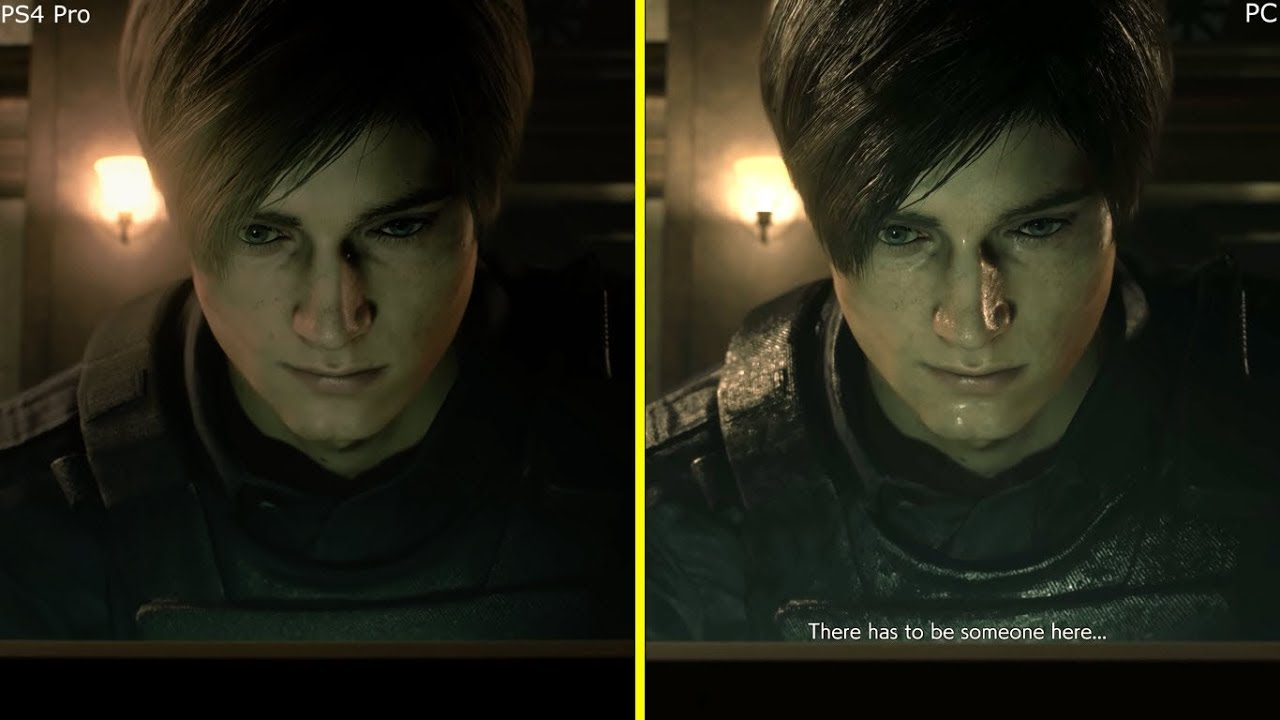 Resident Evil 2 Remake PC vs PS4 Pro 4K Early Graphics Comparison