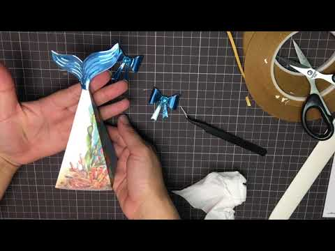 AlinaCutle Tutorial -MERMAID PYRAMID GIFT BOX #giftbox #alinacraft #aliexpress
