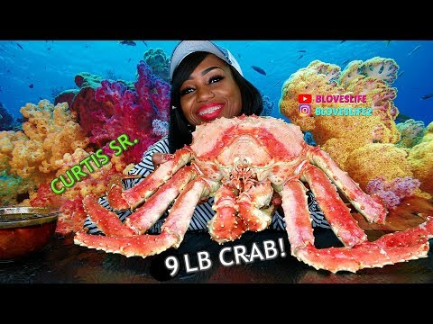 Bloveslife Meets Curtis The Crab SR. A 9 LB Whole Alaskan King Crab