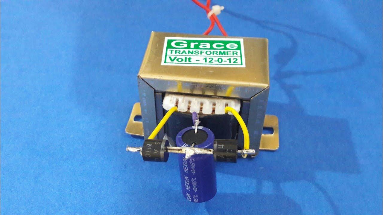 medium resolution of make 12v dc supply using 12 0 12 transformer