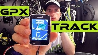 How To Download And Install GPX Track On Garmin Edge 520 Bike Navigation. Tutorial