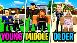 YOUNG FAMILY vs MIDDLE FAMILY vs OLD FAMILY in Roblox BROOKHAVEN RP!!