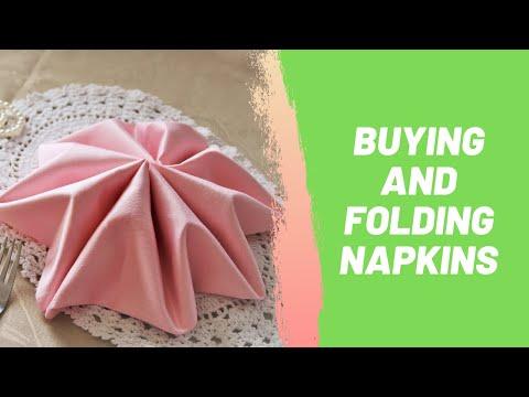 Buying and Folding Napkins