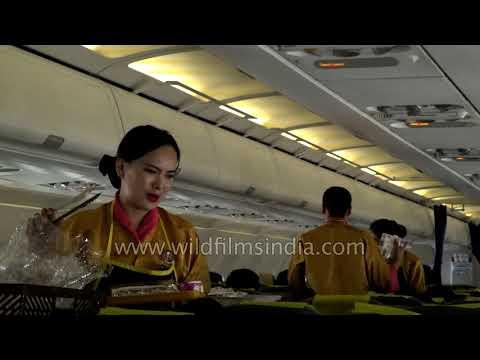 Bhutanese air hostesses on Tashi or Bhutan Air
